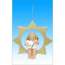 Angel in Star Ornament