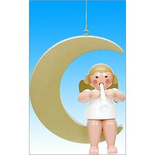 Angel in Moon Ornament