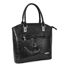Patent Croco Rollerbrief Friendly Tote Bag