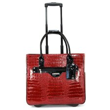 Patent Croco Leather Laptop Briefcase