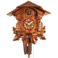 Chalet Style Cuckoo Clock with Leaf Detail