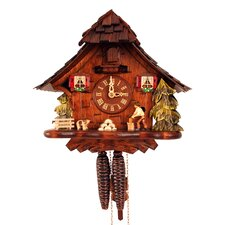 Cuckoo Clock with Woodchopper and Gongs