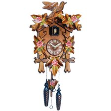 Cuckoo Clock with Red Flowers