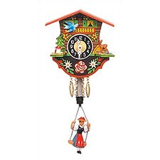 Swinging Girl Chalet Clock