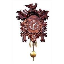 Carved Clock with Leaves