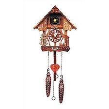 Two Story Chalet Clock with Music