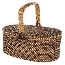 <strong>Eco Displayware</strong> Eco-Friendly Oval Picnic Basket