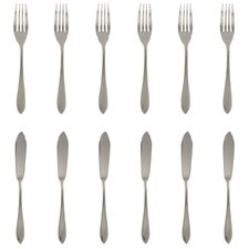 12 Piece Fish Knife and Fork Set