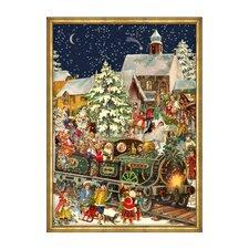 Large Santa and Train Advent Calendar