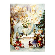 Large Angel and Kids Advent Calendar