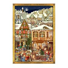 Large Victorian Santa Advent Calendar
