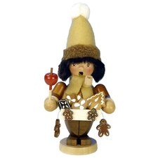 Christian Ulbricht Gingerbread Vendor Incense Burner in Natural Wood