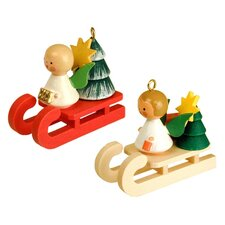 Christian Ulbricht Angel on Sled Ornament