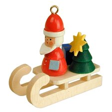 Christian Ulbricht Santa on Sled Ornament