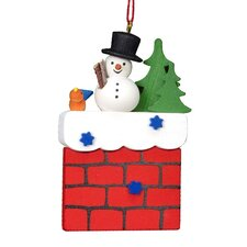 Christian Ulbricht Snowman on Chimney Ornament