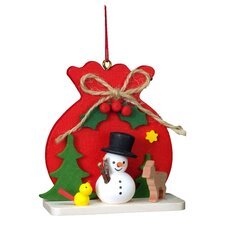 Christian Ulbricht Red Sack with Snowman Ornament
