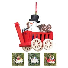 Christian Ulbricht Wagon Toys Ornament (Set of 4)