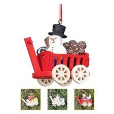 Christian Ulbricht Wagon Toys Ornament (Set of 4)