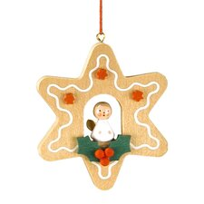 Christian Ulbricht Star Shaped Gingerbread Cookie Ornament with Angel
