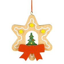Christian Ulbricht Star Shaped Gingerbread Cookie Ornament with Christmas Tree
