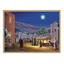 Manger Scene with Bible Verses Advent Calendar