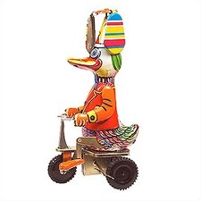 Tin Duck on Bike Toy