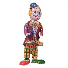 Tin Clown Drummer Toy
