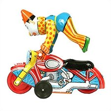 Tin Clown and Motorcycle Toy