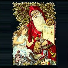 Standing Santa and Child Card