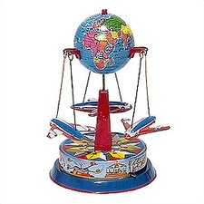 Tin Lever Wind Airplane Carousel Toy