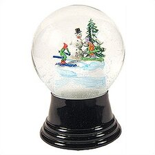 Medium Snowman and Skier Snow Globe