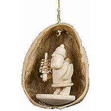 Santa Nutshell Ornament