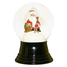 Sitting Santa Snowglobe