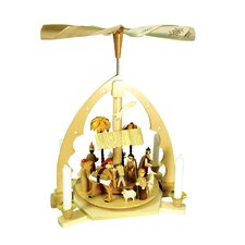 Wood Color Arch Nativity Pyramid