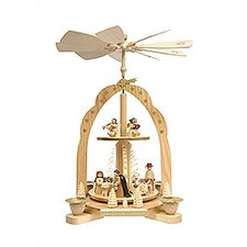 2 Tier Wood Arch Nativity Scene Pyramid
