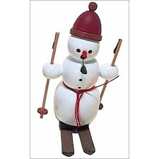 Snowman on Skies Incense Burner