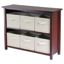 Verona Low Storage Shelf with 6 Foldable  Baskets