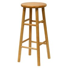 "<strong>Winsome</strong> Basics White 30"" Bar Stool (Set of 2)"