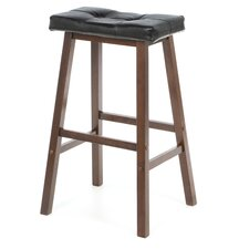 "Antique Walnut Mona 29.76"" Bar Stool"
