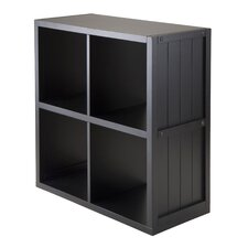 Timothy 2 x 2 Cube Shelf with Wainscoting Panel