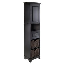 Wyatt Tall Cabinet with Basket