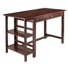 Velda Writing Desk with 2 Shelf