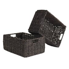 Granville Foldable Corn Husk Basket (Set of 2)