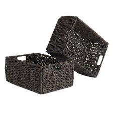 Granville Fordable Corn Husk Basket (Set of 2)