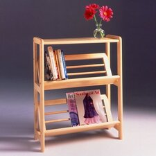 "Basics 30"" H Tilted Shelf Two Tier Bookshelf"