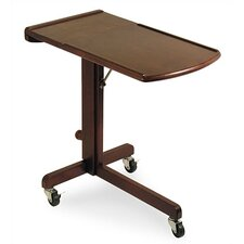 Antique Walnut Adjustable Laptop Cart