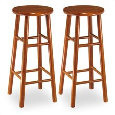 "30"" Backless Bevel Seat Barstool (Set of 2)"