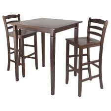 <strong>Winsome</strong> Kingsgate 3 Piece Pub Table Set