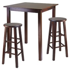 Parkland 3 Piece Counter Height Pub Table Set