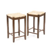 "Regalia 24"" Barstool w/ Rush Seat (Set of 2)"